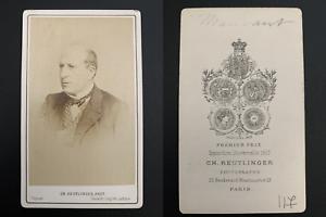 Reutlinger-Paris-Maubant-acteur-Vintage-carte-de-visite-CDV-Henri-Polydor