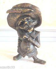 bougeoir bronze humoristique pirate candlestick