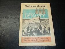 1982 Stanley Cup Finals Newspaper Newsday New York Islanders vs Vancouver Canuck