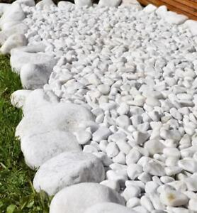 Image Is Loading Decorative SNOW WHITE Aggregate Chippings Stones Pebbles  Garden