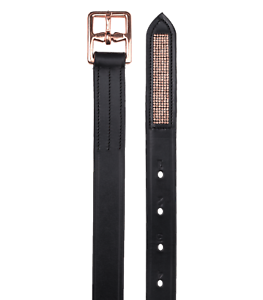 WALDHAUSEN X-LINE ROSÉ STIRRUP LEATHERS WITH CRYSTAL BLACK LEATHER