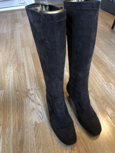 Gabor Brown Suede Mid-Calf Boots Größe 4.5