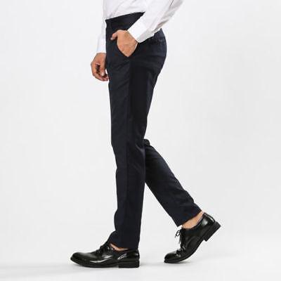 Pantalones De Hombre Azul Negro Chino Vaqueros Confort Casual Bolsillo América