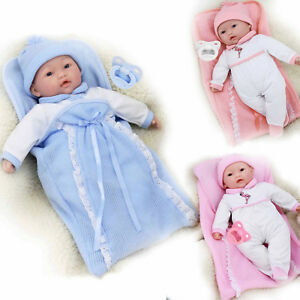 18 Quot Lifelike Soft Bodied New Born Baby Doll In Swaddle