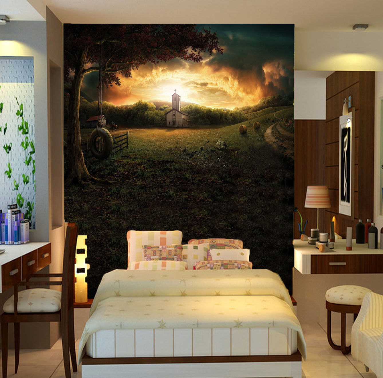 3D Sunlight in the clouds 506 Wall Paper Wall Print Decal Wall Deco AJ WALLPAPER