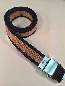 "Made in the USA 1.25/"" X 60/"" New Men/'s White Nylon Fabric Web Belt"