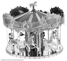 Merry Go Round: Metal Earth 3D Miniature Carousel Laser Cut Model Kit 2 sheets