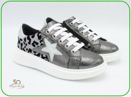 Scarpe da bambina sneakers zeppa platform Cafè Noir bimba bambini con lacci