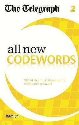 1 of 1 - The Telegraph: All New Codewords 2 (The Telegraph Puzzle Books), 0600626067, New