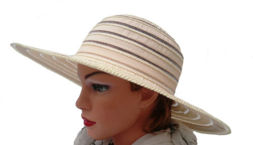 Damen Sonnenhut  großer Kofferhut  Urlaub Strand Garten Freizeit Sonnenschutz