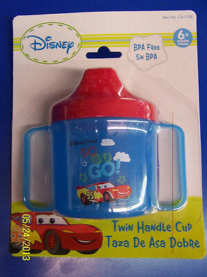 Teddy Bear Spill Proof Plastic Sippy Cup Baby Shower Party Favor Gift Blue