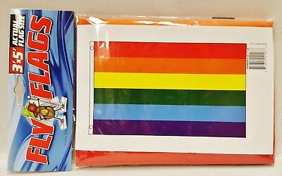 1 Rainbow Multi Colored Indoor Or Outdoor Flying Flag 3x5ft Banner Up-To-Date Styling