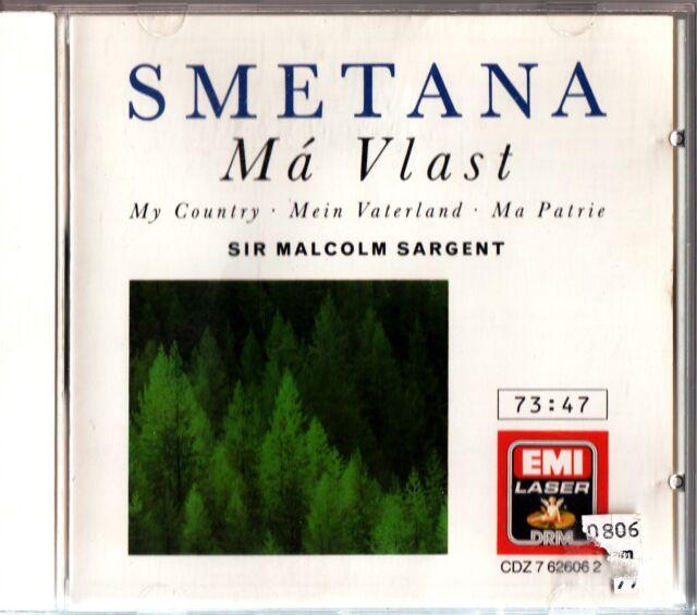 SMETANA - Ma Vlast My Country/Mein Vaterland/Ma Patrie. CD SARGENT (1965) RPO