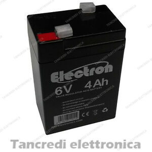 Batteria-ricaricabile-al-Piombo-6V-4AH-5Ah-connettore-Faston-4-8-mm-Batterie