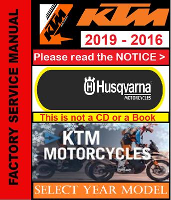 2018 Manual 2016 KTM Repair Service Workshop 2019 PDF 2017