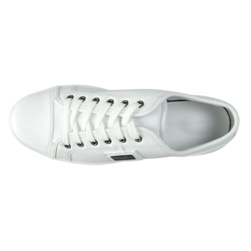 Dolce /& Gabbana Men/'s White Sneakers Shoes 7 7.5 8 8.5 9 9.5 10 10.5 11 11.5 12
