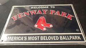 Boston-Red-Sox-Fenway-Park-Metal-Baseball-Sign-12x18
