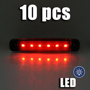 10-X-24V-ROUGE-LED-marquage-lateral-Feu-position-pour-SCANIA-MAN-VOLVO-MERCEDES