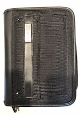 Franklin Covey Compact Planner Black Ballistic Nylon Amp Leather Binder Zip Close