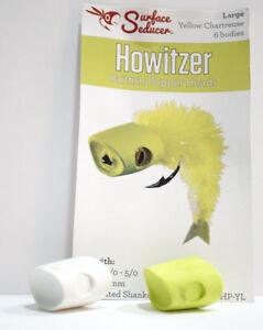 Howitzer-BAITFISH-POPPER-Heads-large-amp-medium-white-amp-yellow-chartreuse-IT-POPS