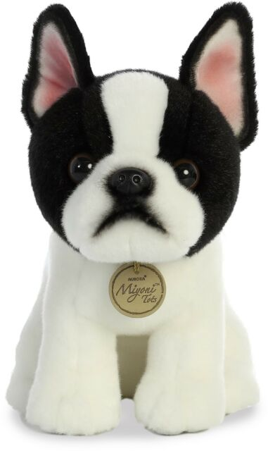 11 Inch Miyoni Sitting Boston Terrier Puppy Dog Plush Stuffed Animal