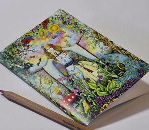 Materiali attività artistiche Blocchi e carta da disegno LADY MEDIEVALE a5 NOTEBOOK BIANCO ART schoolpagan Regalo Disegno Celtico Sketchbook