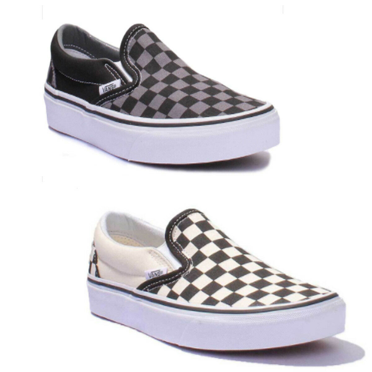 Vans Checkerboard Slip On femmes Canvas Trainers 3 - 6.5