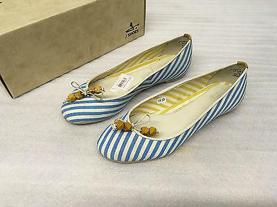 J Shoes Amarante Ballet Zapatos sin Taco Mujer Azul 4 37 nuevo PVP £ 60 JL13
