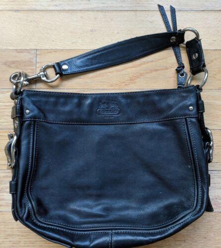 schoudertas 12671 Black Hobo Purse Coach Tote Satchel Leather Smooth Zoe 0wkOnP