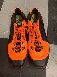 Diesel-Collectible-Butterfly-Sista-Women-Orange-Black-Leather-Sneakers-9M-175