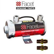 Genuine FACET Rosso Top POMPA COMBUSTIBILE + AN-6 / jic-6 acciaio metallo carburante tubo unioni