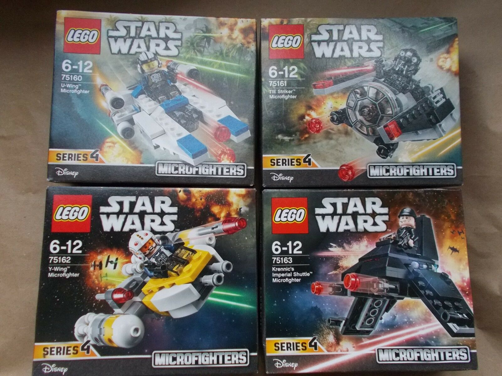 NEW LEGO STAR WARS FULL SET OF 4 MICRO FIGHTERS SERIES 4 75160 75161 75162 75163