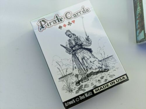 RARE! BRAND NEW SEALED Lot of 12 DECK Don Maitz Pirate Art playing cards cARRds