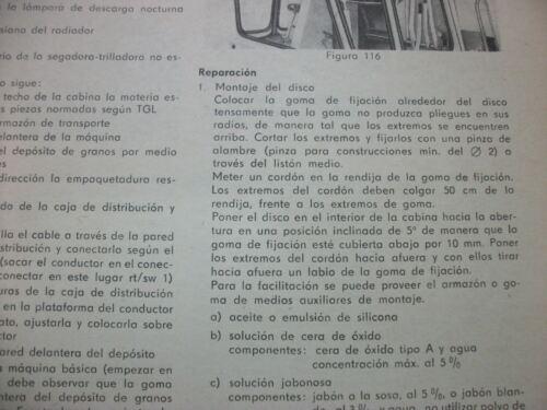 Bedienanweisung Spanisch Mähdrescher E 512 Segadora trilladora Fortschritt  #53#