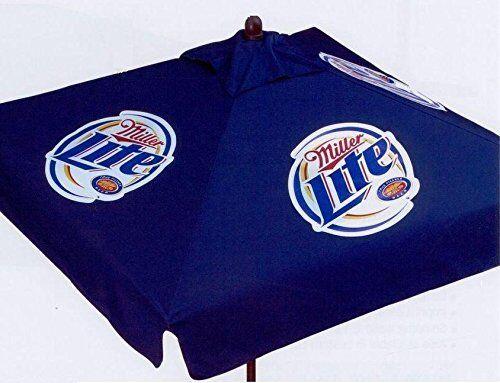 Miller Lite 9 Foot Beer Patio Umbrella Market Style   EBay