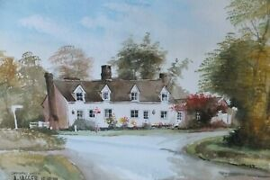 Cooksmill-Green-Essex-Watercolour-signed-A-Jagger