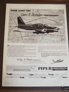 Image Is Loading 1960 PIPER Aircraft Aztec Twin Engine Airplane Photo