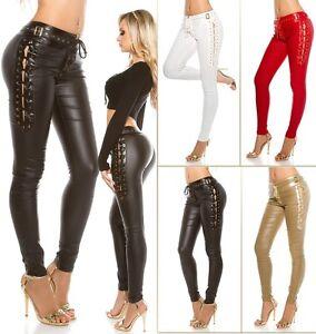 Laçage Leatherlook Koucla Pants Avec Ladies x17qC0