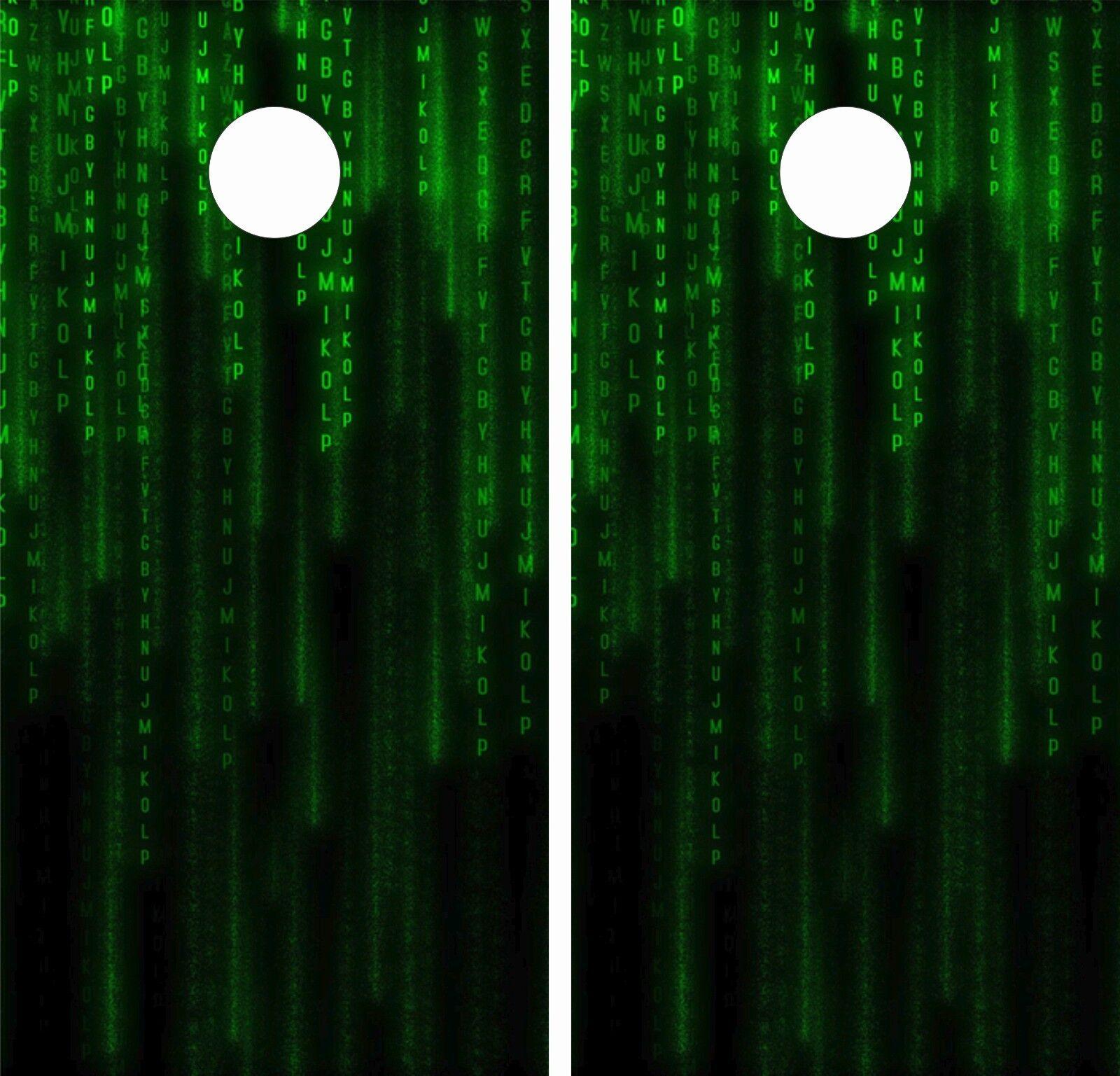Matrix ReloadedCornhole Board  Game Decal Wraps USA High Quality Image  LAMINATED  trendy