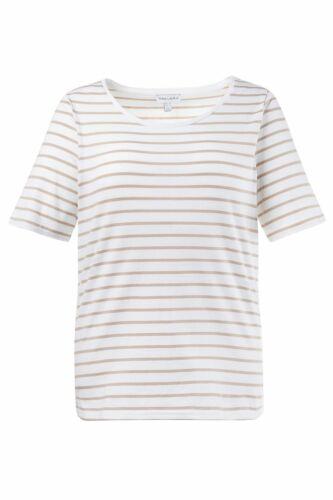Gina Laura Shirt regular Rundhals mit Ringel mandel NEU