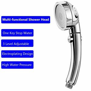 Hand Held Shower Heads With On Off Switch.Details About Water Saving Shower Head 3 Modes Adjustable On Off Switch Handheld Showerhead