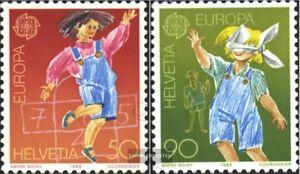 Schweiz-1391-1392-kompl-Ausg-gestempelt-1989-Europamarken