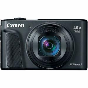 佳能 PowerShot sx740 HS 20.3mp 4k 數碼相機 40x 光學變焦 Wi-Fi 黑色