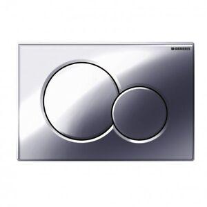 geberit polished chrome sigma01 dual flush. Black Bedroom Furniture Sets. Home Design Ideas