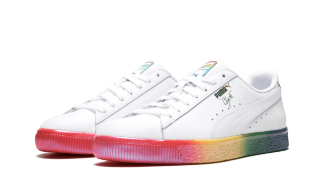 super popular be741 bf27a New Mens Puma Clyde Pride Lace Up Athletic Shoe Style 365742-01 White W149  pr
