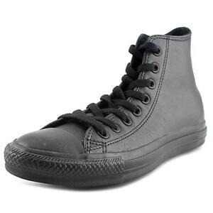 cf07ba6bb74a Converse Chuck Taylor All Star Leather Hi Top Black Size 7 Ladies 9 ...