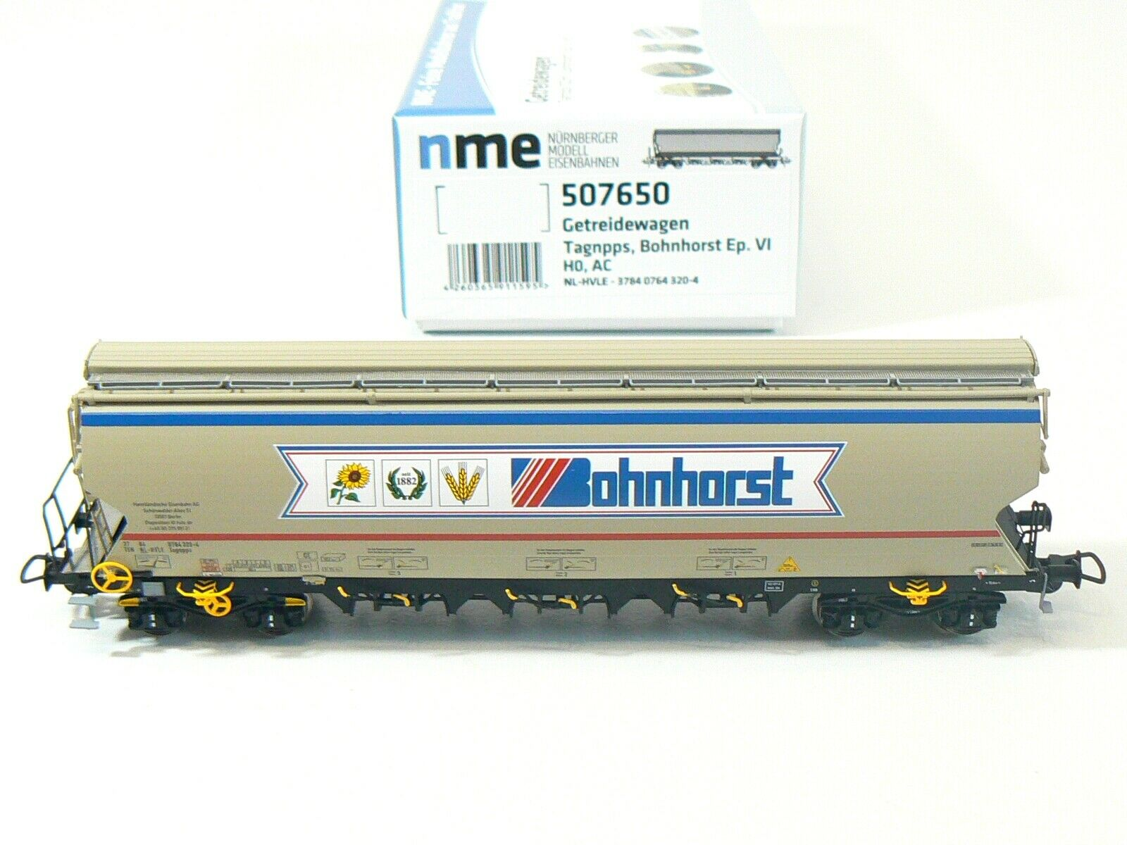 NME H0 507650, AC, Getreidewagen Tagnpps, Bohnhorst, grau, neu, OVP