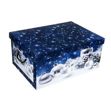 Christmas Storage Bo Xmas Gift Baubles Presents Decorations Festive Box Case
