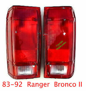 83 92 ford ranger bronco ii tail lights set left. Black Bedroom Furniture Sets. Home Design Ideas