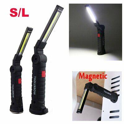 Portable 2*COB LED Work Light Flashlight Magnetic USB Rechargeable Torch Lamp EL